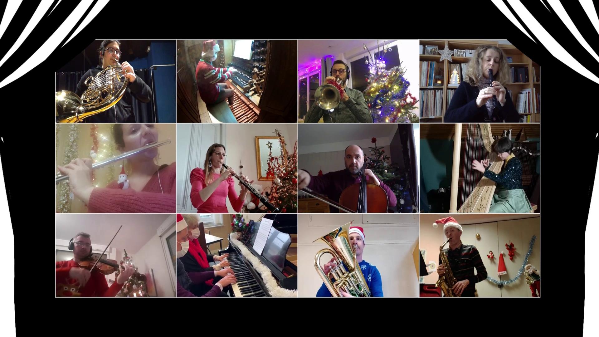 Les professeurs du CRD jouant de la musique