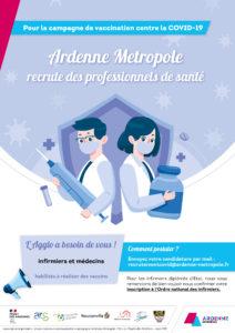 Affiche - Ardenne Métropole recrutement vaccination